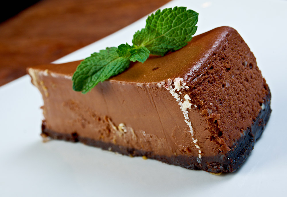 Dark Chocolate and Liqueur Mousse Cake