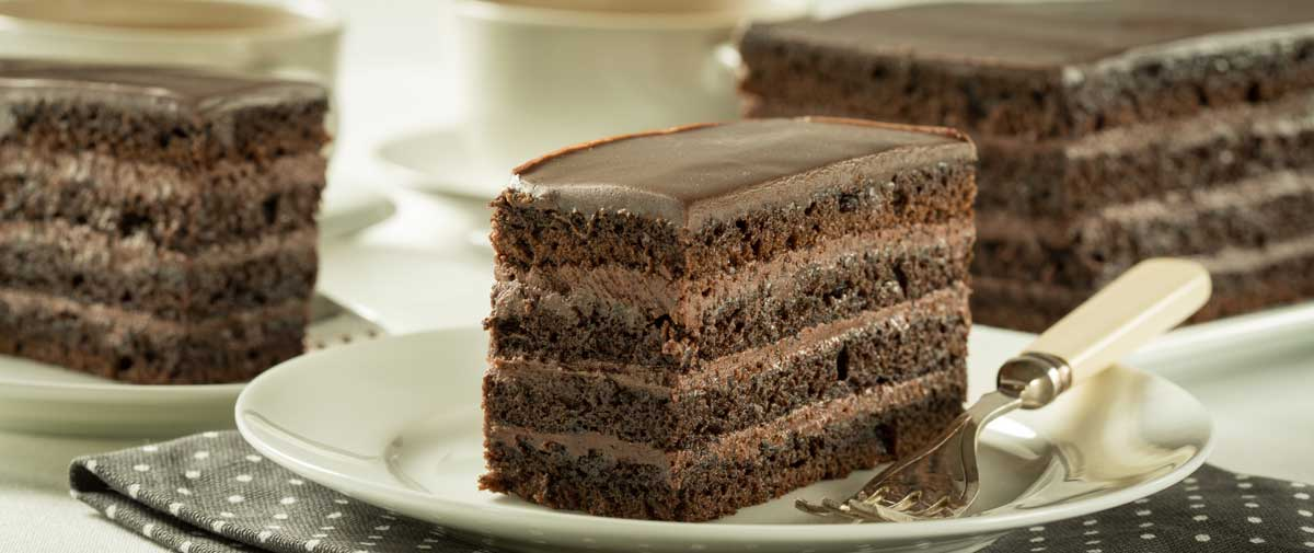 Easy Chocolate Crème Cake Slice Recipe