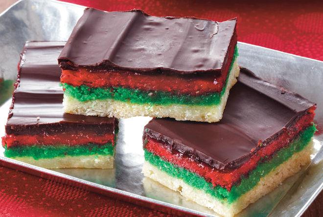 Italian Rainbow Cookie Bars