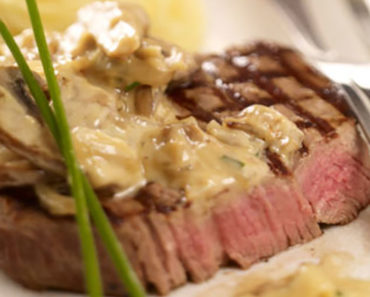 Pan-fried Beef with Creamy Mushrooms – Italian Recipe