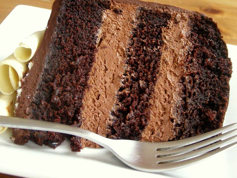Extra Moist Chocolate Cake with Chocolate Frosting