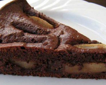 Brandy Chocolate and Pear Cake