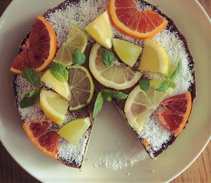Italian Chocolate Citrus Fruit Cake (Flourless Recipe)