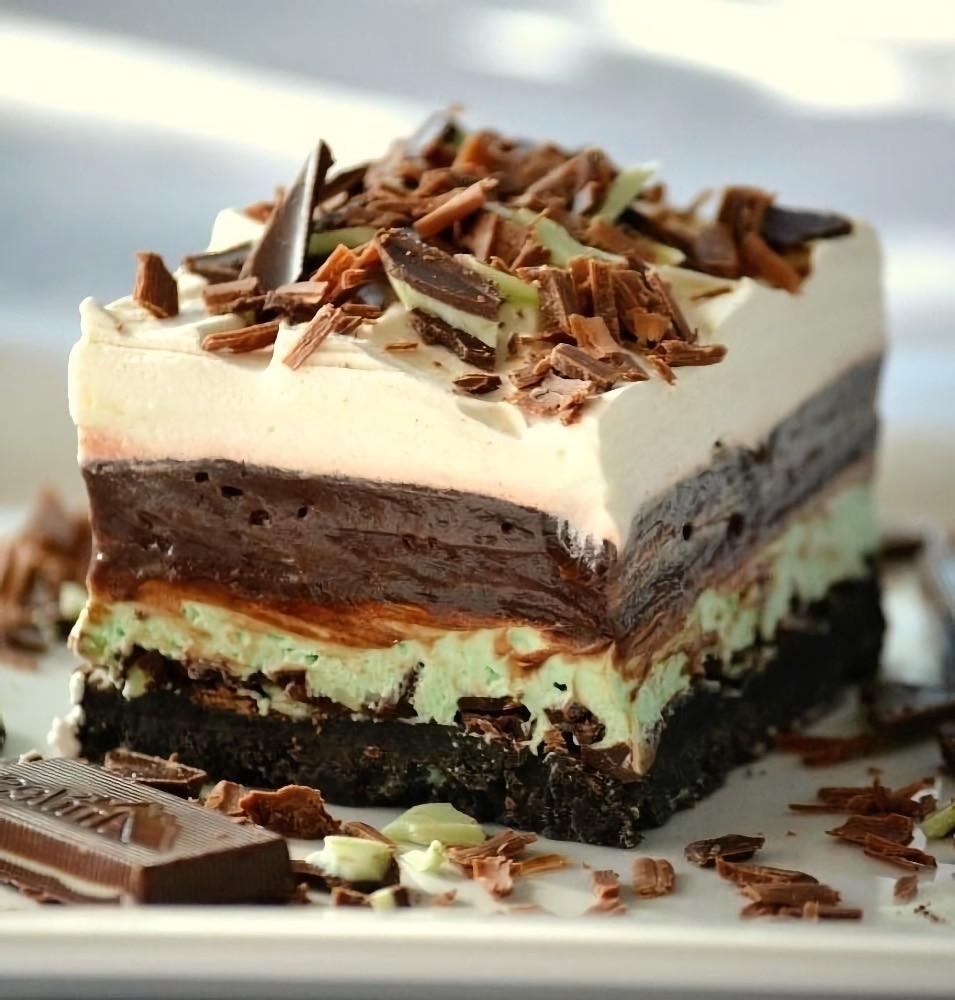 Cute Choco-Mint Bars (No-Bake Recipe)